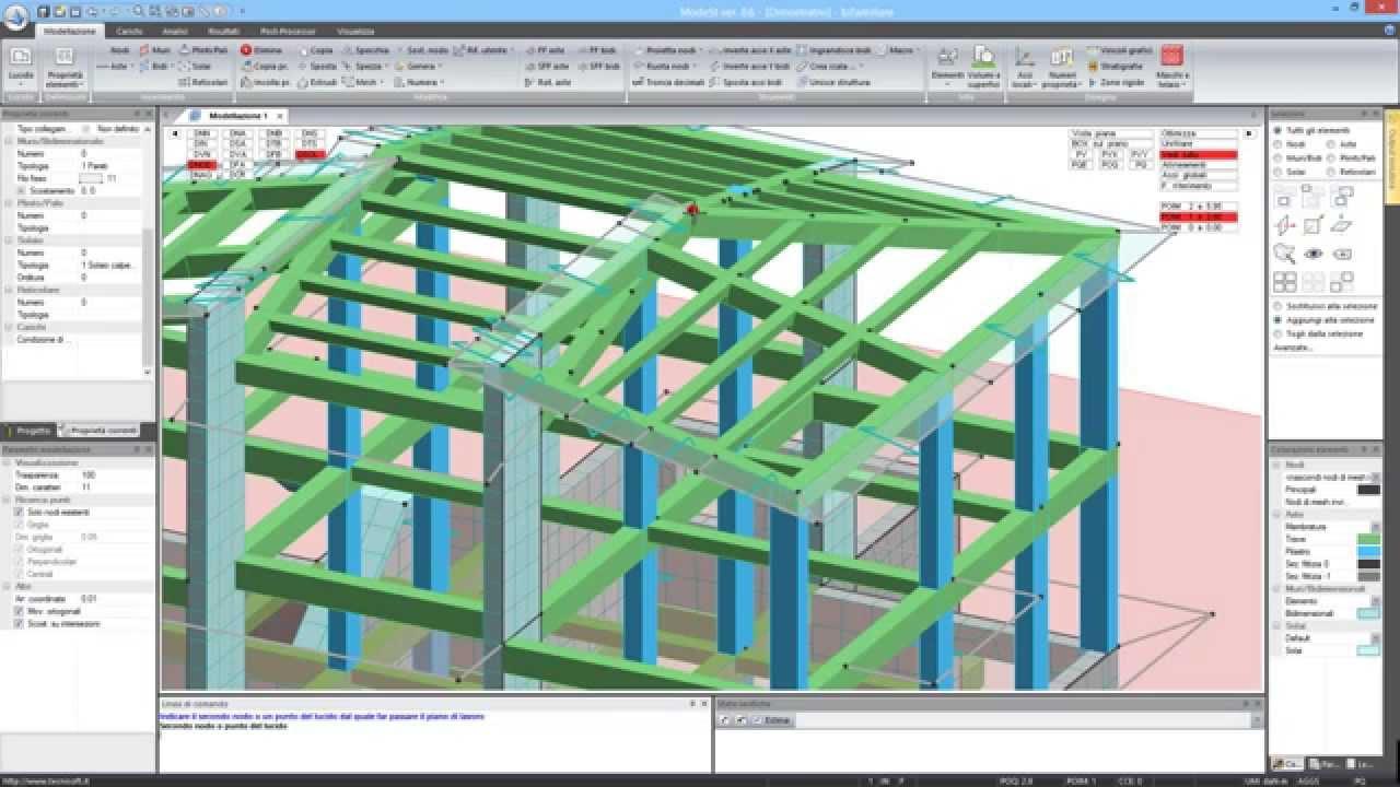 Modellazione e progettazione di una struttura in c a ed for Modellazione 3d gratis