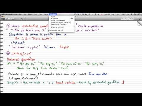 Discrete Math 1 - Tutorial 37 -  Quantifiers