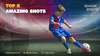 When bearing down on goal, the most important thing is to produce right finish, leaving keeper stranded. in 2016/17, barcelona academy players ce...