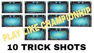 Play like a champion 8 ball pool-10 trick shots