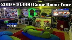 $40,000+ Game Room/ Man Cave Tour Video Games, Board Games, Movie Theater + More