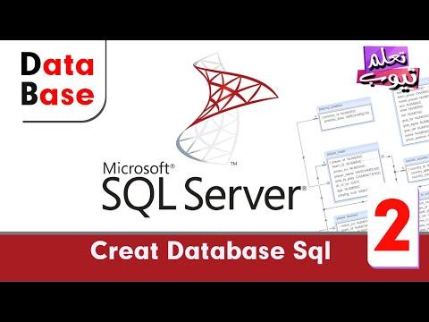 دورة قواعد البيانات Microsoft SQL Server 2012 - الدرس الثانى- creat database sql server