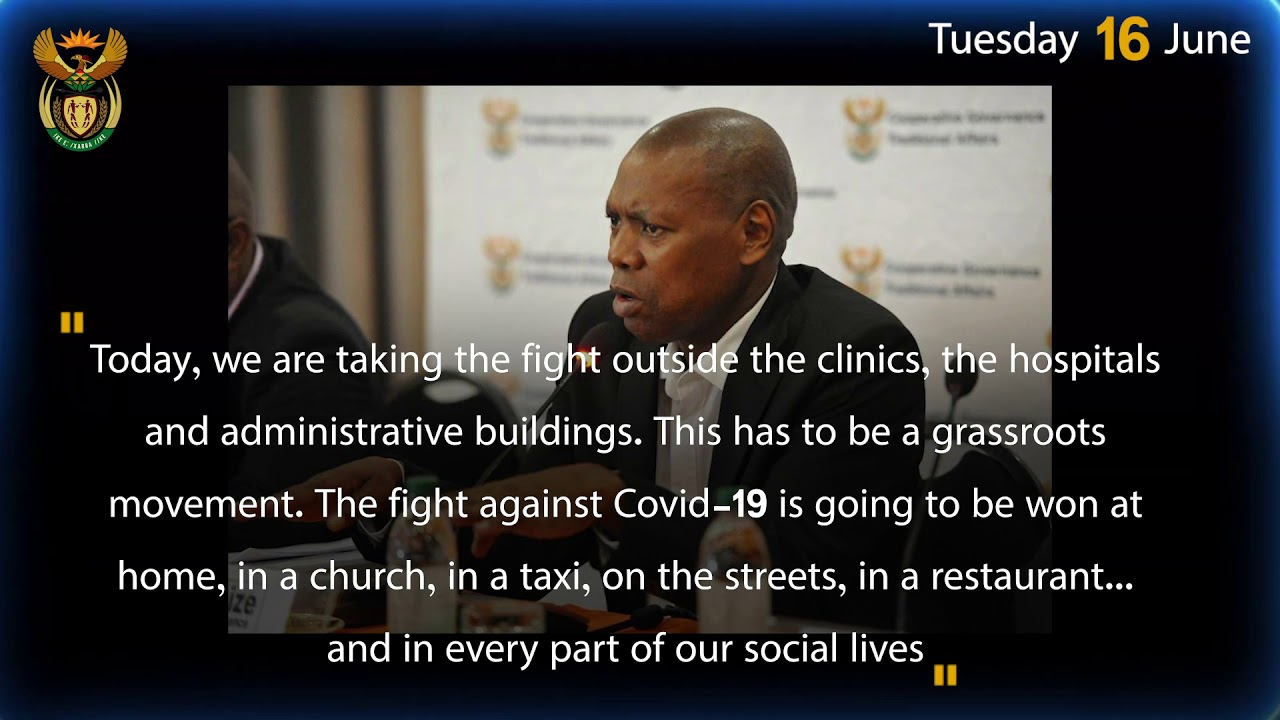 Highlights of Minister Mkhize's Past Week (14th June)
