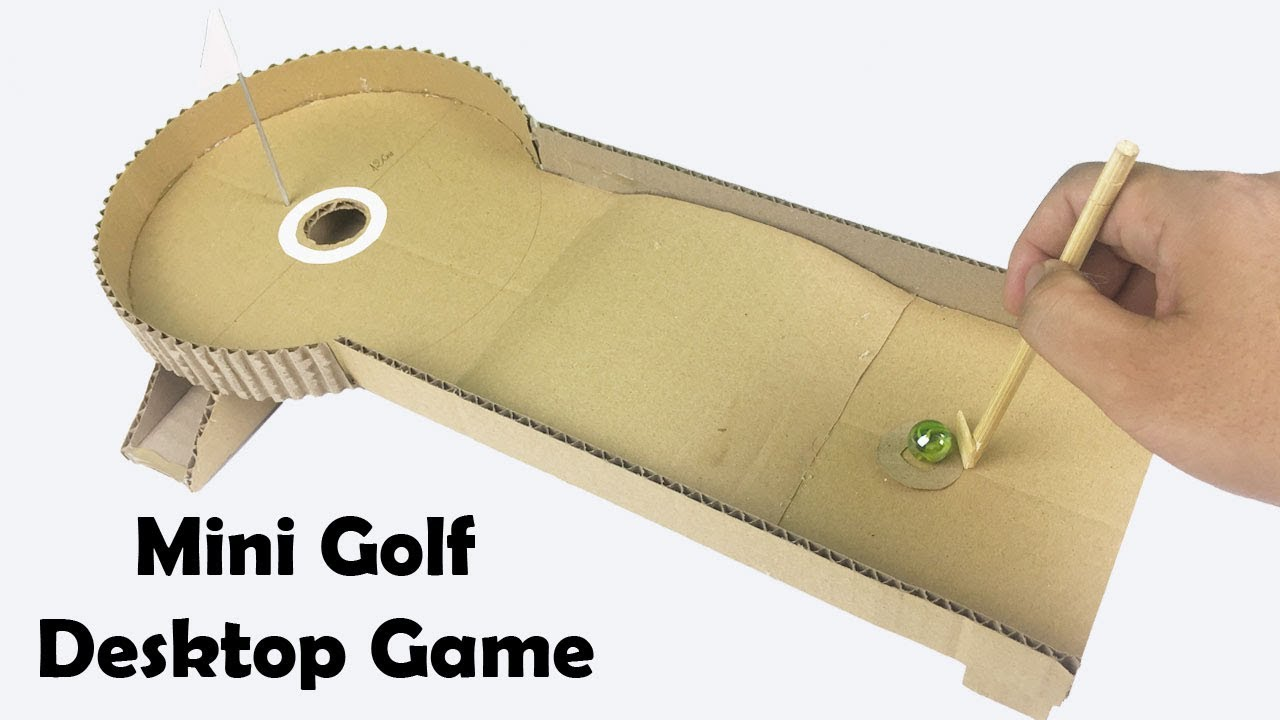 How To Make Mini Golf Desktop Game From Cardboard Youtube