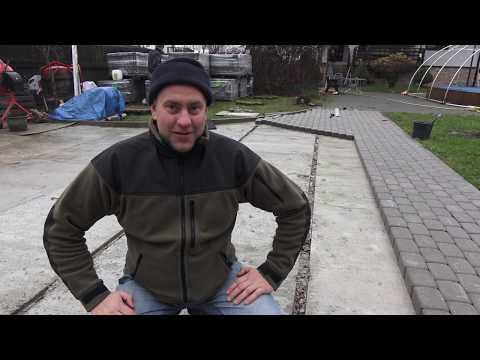 Как укладывать тротуарную плитку на бетонное основание видео