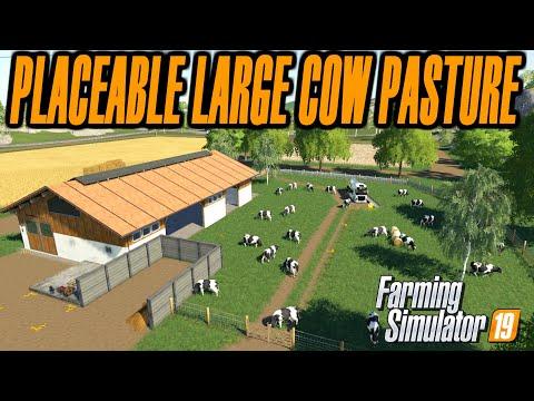Timelapse Large Cow Pasture Farming Simulator 19 Mod Video Review