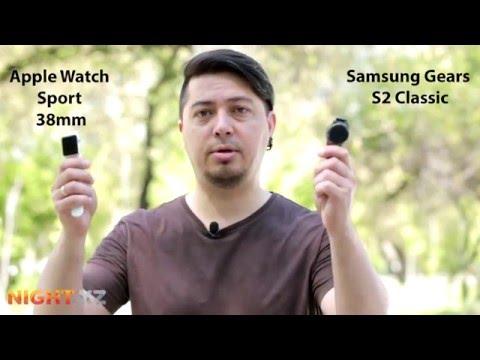 Samsung Gear S2 vs Apple Watch Sport. Обзор и сравнение умных часов.
