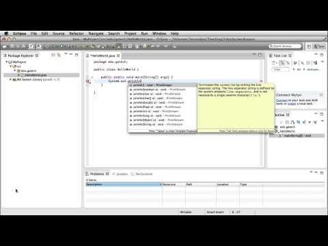 Eclipse Demo: Create a Class - Georgia Tech - Software Development Process