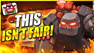 You NEED to LEARN the New #1 GOLEM DECK in CLASH ROYALE!! 💪