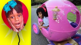 Pink Disney Princess Ride On Carriage Play!