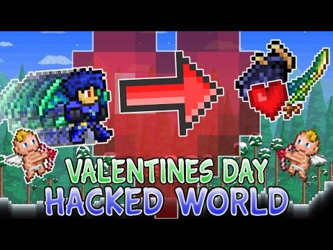 terraria pe hacked world