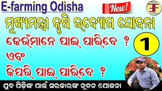 What is Mukhyamantri Krushi Udyog Yojana and How to apply it(Brief Description).