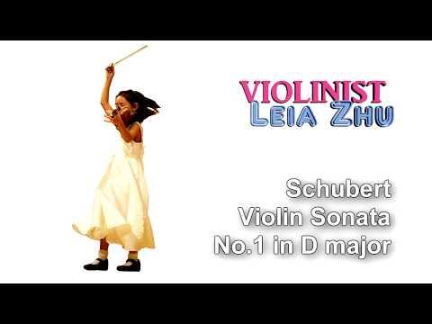 Schubert Violin Sonata No.1 in D Major, Op.137, D.384 (4K) | Leia Zhu