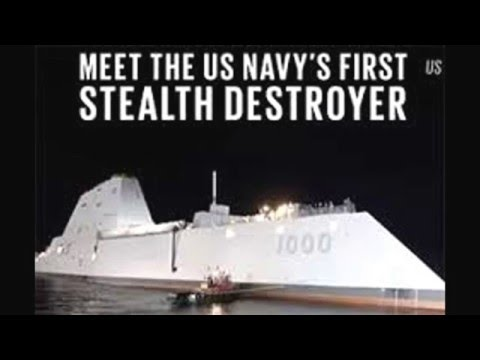 Zumwalt ddg-100 - the USS largest destroyer. эсминец ddg-1000 класса zumwalt.