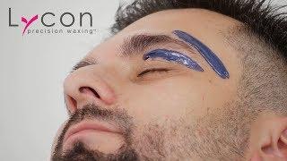 Stylizacja brwi u mężczyzn woskiem twardym LYCON Manifico Hot Wax