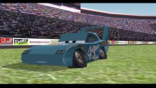 Chick Hicks Makes The King Crash REMAKE! - Cars 3D Animation