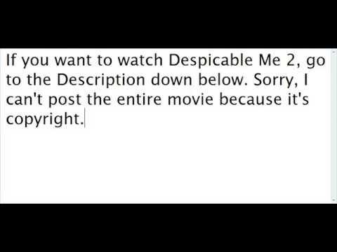 Despicable Me 2 Full Movie in Description