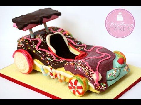 Barbie Car Birthday Cake