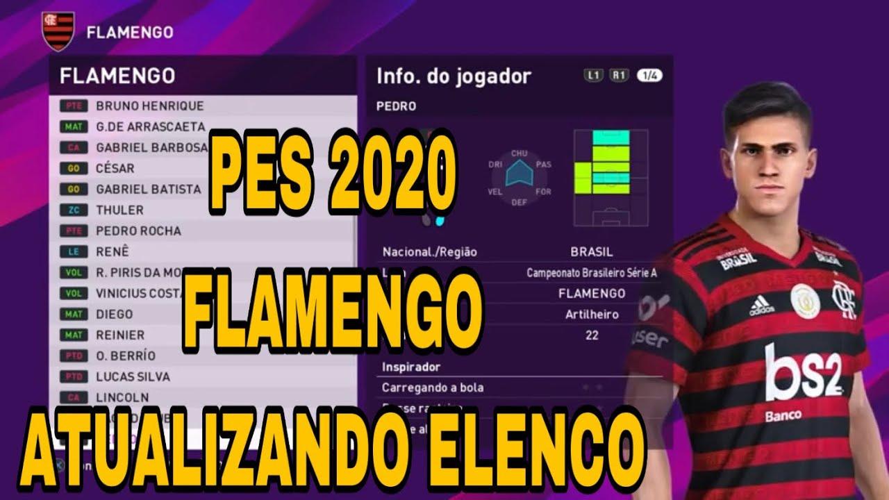 PES 2020 Flamengo Transferências 2020 como atualizar elenco  #PES2020 #Flamengo