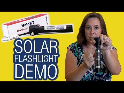 HaloXT Solar Charging Flashlight Demo