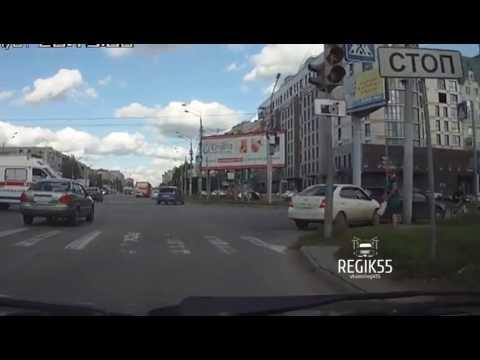 ДТП на пешеходном, Омск