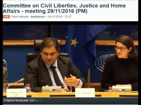 EFD Executive Director Alexander Ritzmann at the European Parliament's LIBE hearing  - 29/11/2016