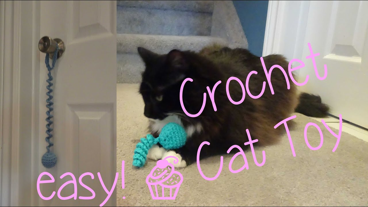 Easy crochet cat toy youtube for How to crochet cat toys