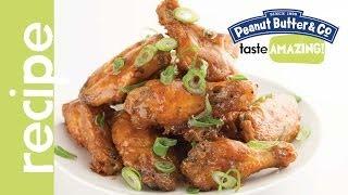 Sweet & Spicy Peanut Butter Chicken Wings Recipe