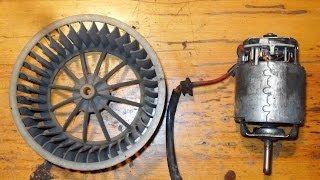 Ремонт мотора печки пассат Б3(Замена передней втулки электромотора отопителя пассат Б3. Втулка износилась настолько что в ней был большо..., 2014-03-15T17:12:48.000Z)