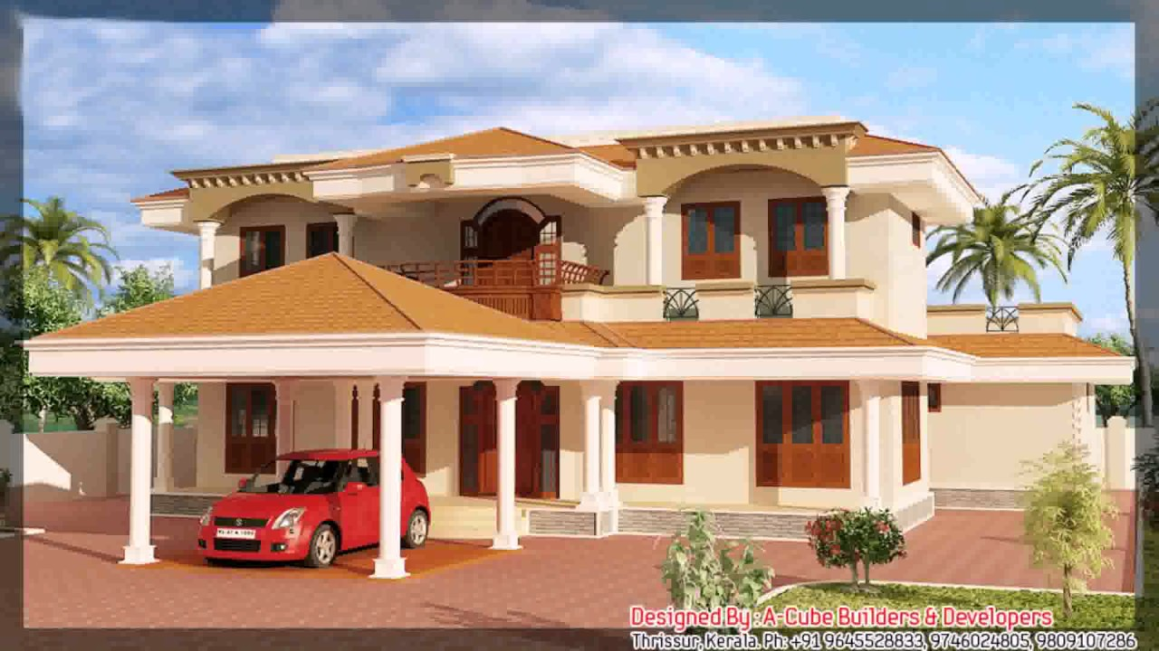 Kerala style house plans with estimates youtube for New model veedu photos
