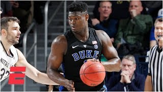 Zion Wiliamson's 26 points lead Duke past Notre Dame | College Basketball Highlights
