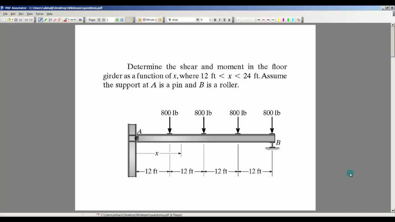 Using Winbeam To Draw Shear And Bending Moment Diagram 1 Youtube Transcribed Image Text The Diagrams