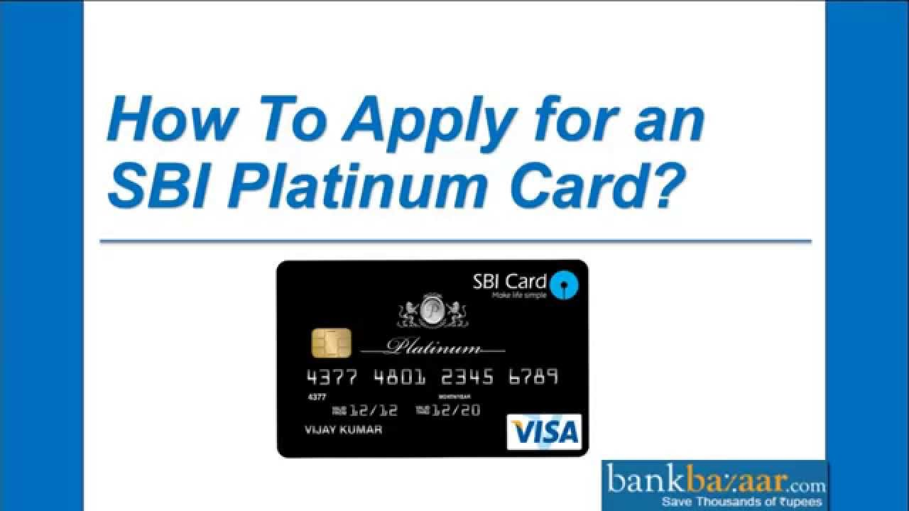 How To Apply for an SBI Platinum Card ? - YouTube