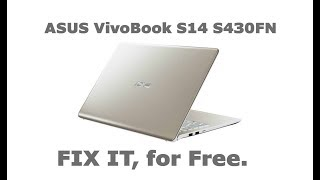 ASUS VivoBook S14 S430 and X430 - DISASSEMBLY and UPGRADE