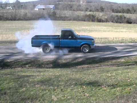 95 f150 burnout 1st to 3rd till tire pops youtube