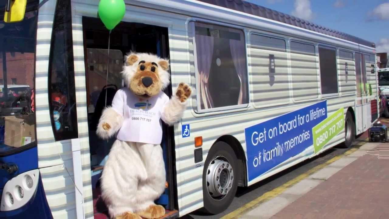 talacre beach caravan park bus promo youtube
