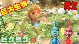 おーちゃんパニック!!巨大生物と突然の対決!?スイッチ☆ピクミン3デラックス#2 himawari-CH
