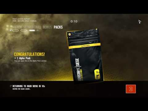 Winning an alpha pack on 2 percent in Rainbow Six siege
