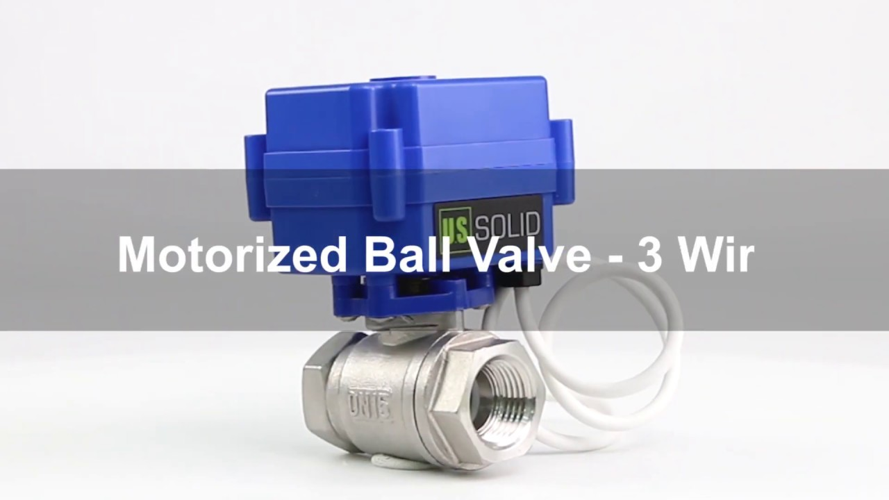 how to wire a motorized ball valve, 3 wire Sprayer Control Valve