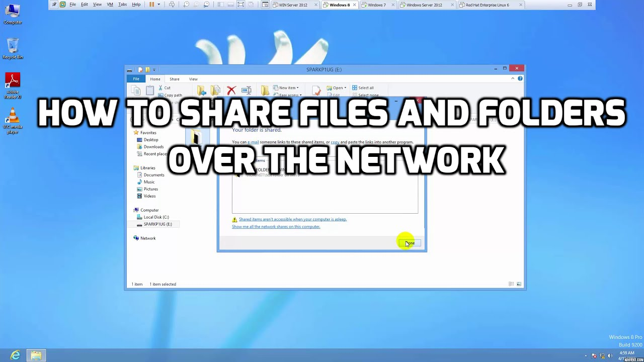 Share Files Folders Over The Network Youtube