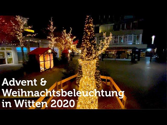 Weihnachtsbeleuchtung in Witten 2020