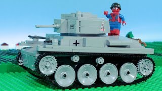Lego Spiderman Brick Building a Toy TANK Animation for Kids