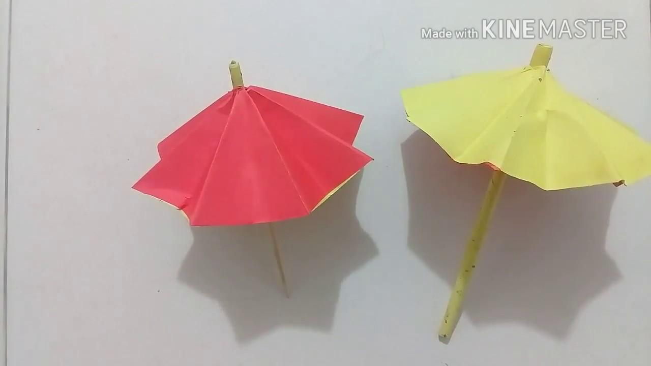 Como Hacer Una Sombrilla O Paraguas De Papel