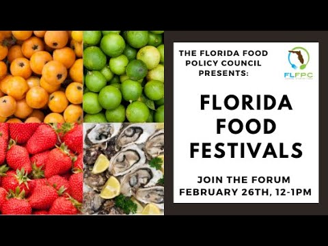 Florida Food Forum: Florida Food Festivals