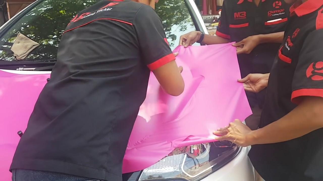 Cutting Stiker Warna Pink Mobil Honda Jazz Rs Wrapping Full Body