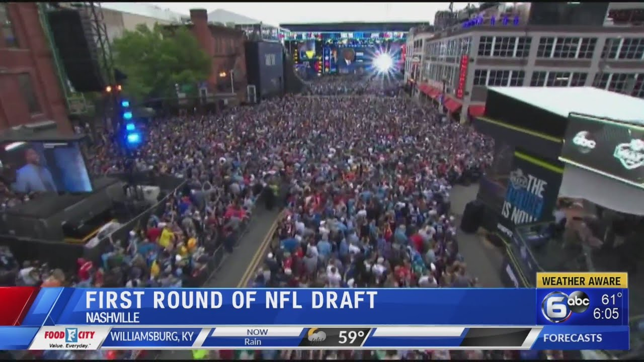 200 000 Attend Day 1 Of 2019 Nfl Draft In Nashville Youtube