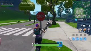 Destroying Stop Signs Using Catalyst Outfit | Fortnite Season 10 Battle Pass Road Trip Challenge