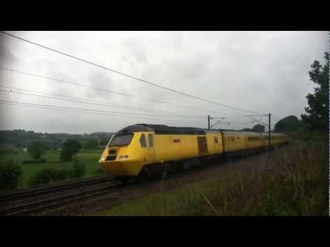 Network Rail HST Class 43 Flying Banana New Measurement Train at Speed