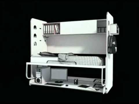 Mueble multifuncional doovi - Cama escondida en mueble ...
