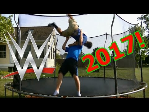 Top 50 WWE Finishers Of 2017 On Trampoline